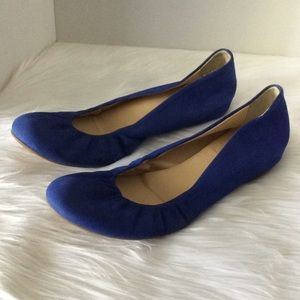 J. Crew blue suede leather flats